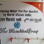 Water Purification System Donated in Mumbai